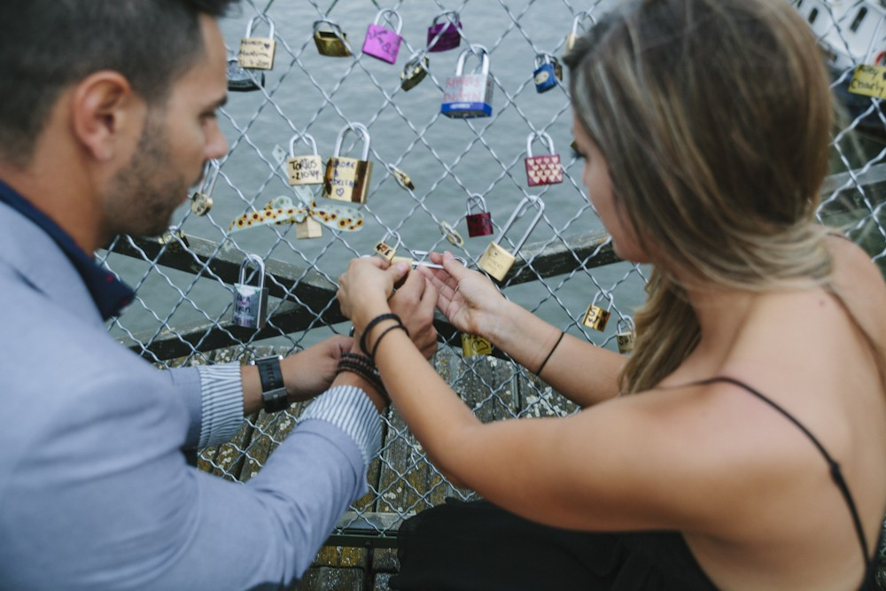 Image 11 of Gino and Maria's Love Lock Marriage Proposal in Paris