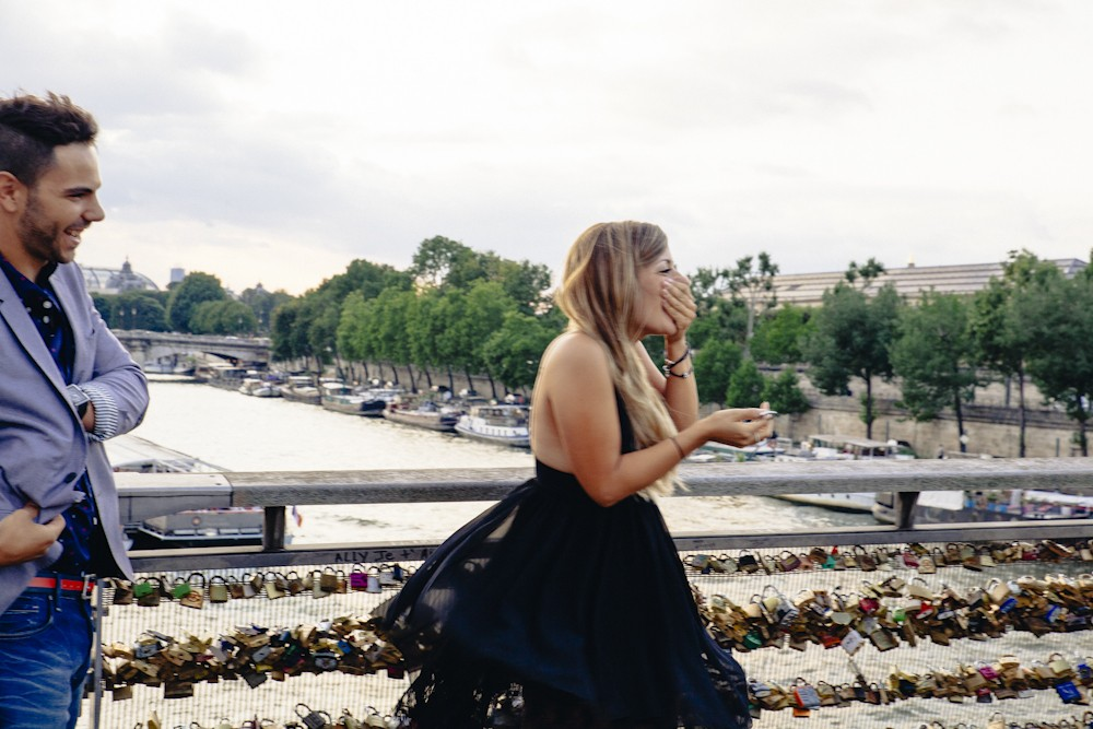 Image 6 of Gino and Maria's Love Lock Marriage Proposal in Paris