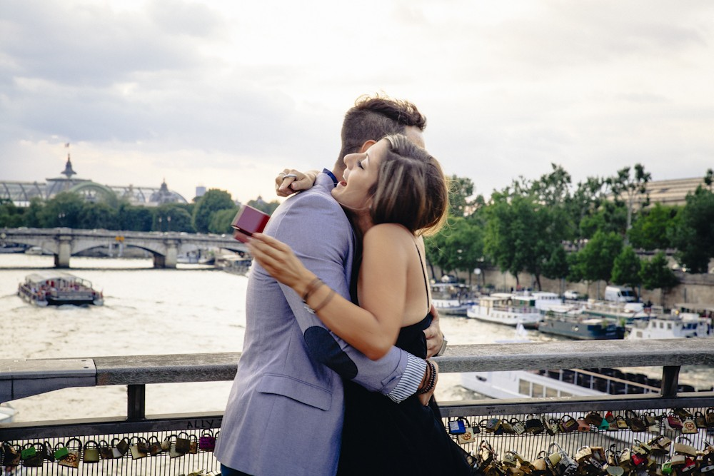 Image 10 of Gino and Maria's Love Lock Marriage Proposal in Paris