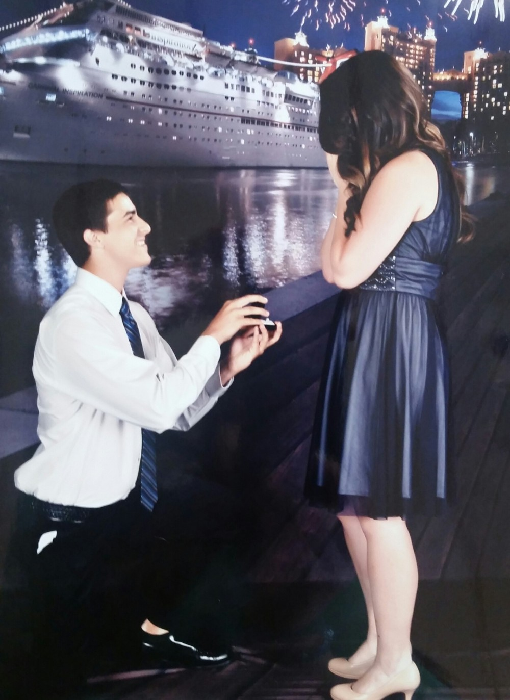 Image 2 of Brandi and Daniel's Marriage Proposal on a Carnival Cruise