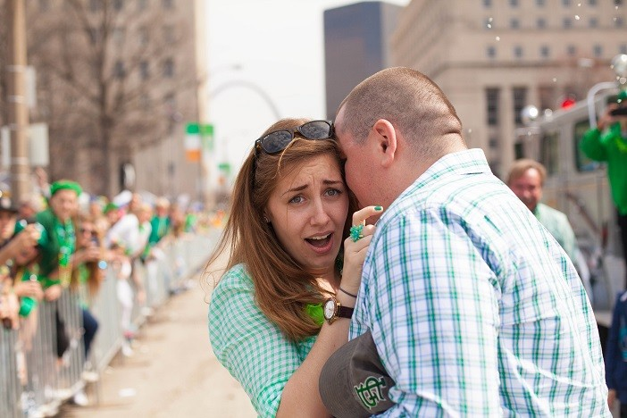 Image 10 of Nathan and Brighton's St. Patrick's Day Parade Proposal