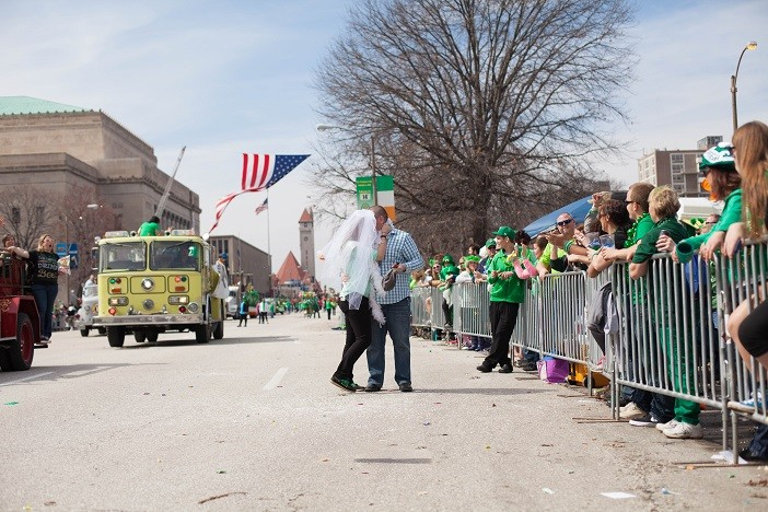Image 1 of Nathan and Brighton's St. Patrick's Day Parade Proposal