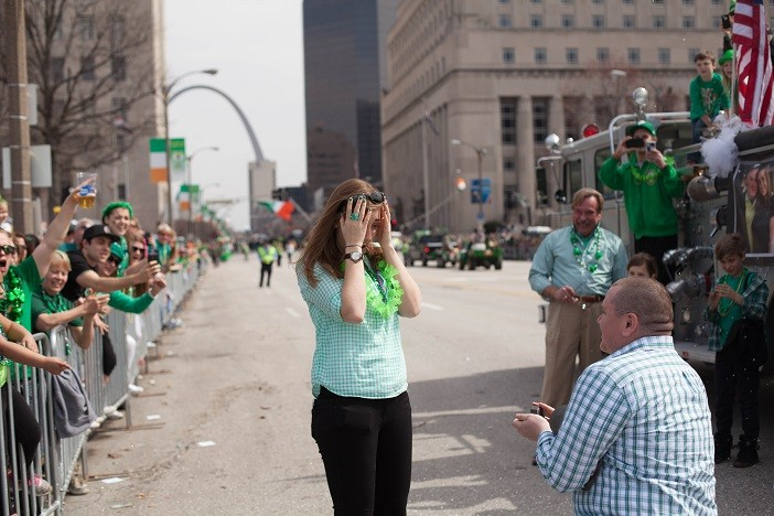 Image 12 of Nathan and Brighton's St. Patrick's Day Parade Proposal