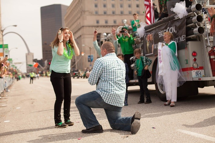 Image 13 of Nathan and Brighton's St. Patrick's Day Parade Proposal