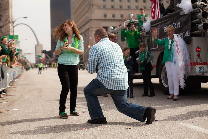 Image 14 of Nathan and Brighton's St. Patrick's Day Parade Proposal