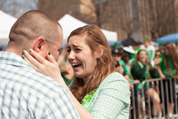 Image 18 of Nathan and Brighton's St. Patrick's Day Parade Proposal
