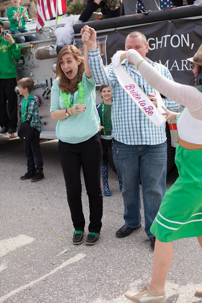 Image 20 of Nathan and Brighton's St. Patrick's Day Parade Proposal
