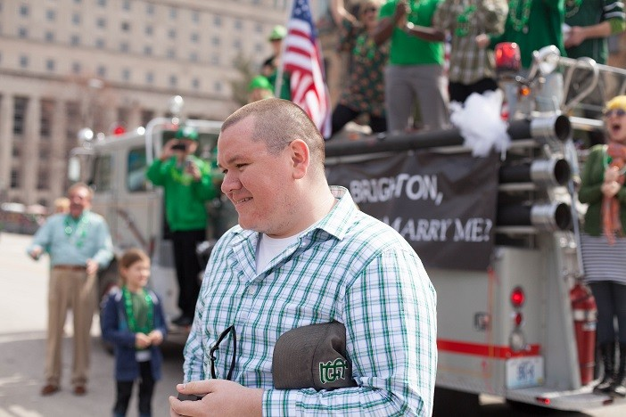 Image 5 of Nathan and Brighton's St. Patrick's Day Parade Proposal