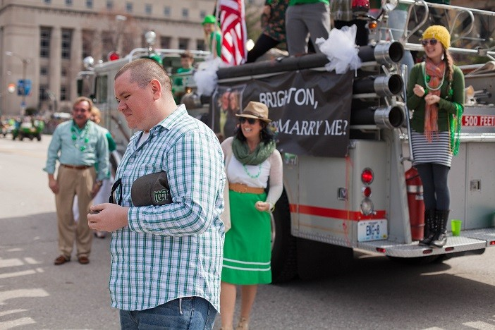 Image 6 of Nathan and Brighton's St. Patrick's Day Parade Proposal