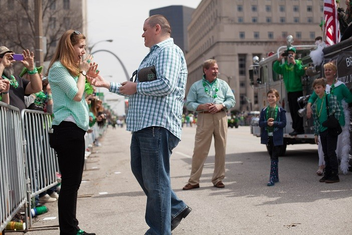 Image 7 of Nathan and Brighton's St. Patrick's Day Parade Proposal