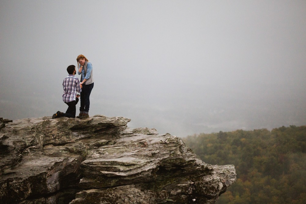 Image 3 of Sarah and Gabe's Hanging Rock Mountain Proposal