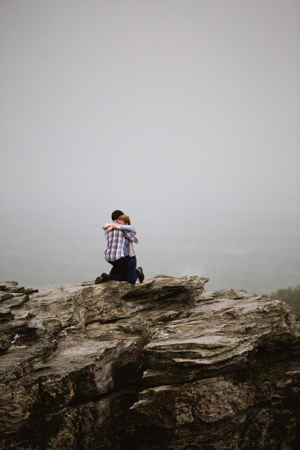 Image 4 of Sarah and Gabe's Hanging Rock Mountain Proposal