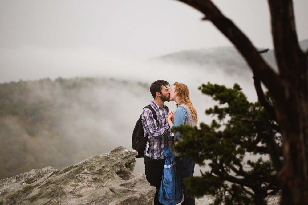Image 5 of Sarah and Gabe's Hanging Rock Mountain Proposal