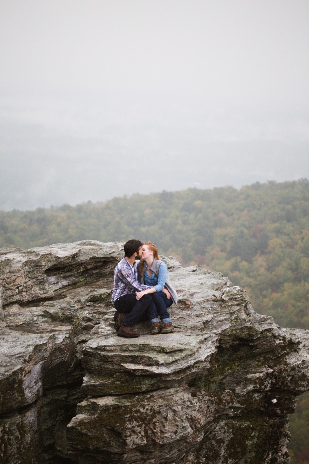 Image 6 of Sarah and Gabe's Hanging Rock Mountain Proposal