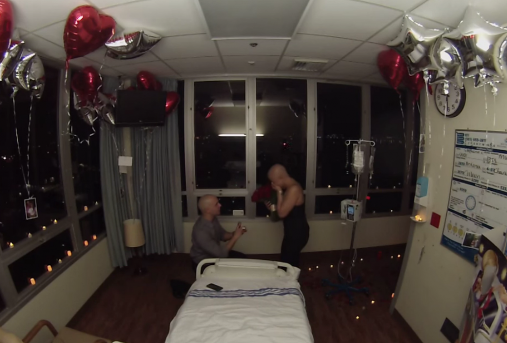 Proposal on the Last Day of her Chemotherapy