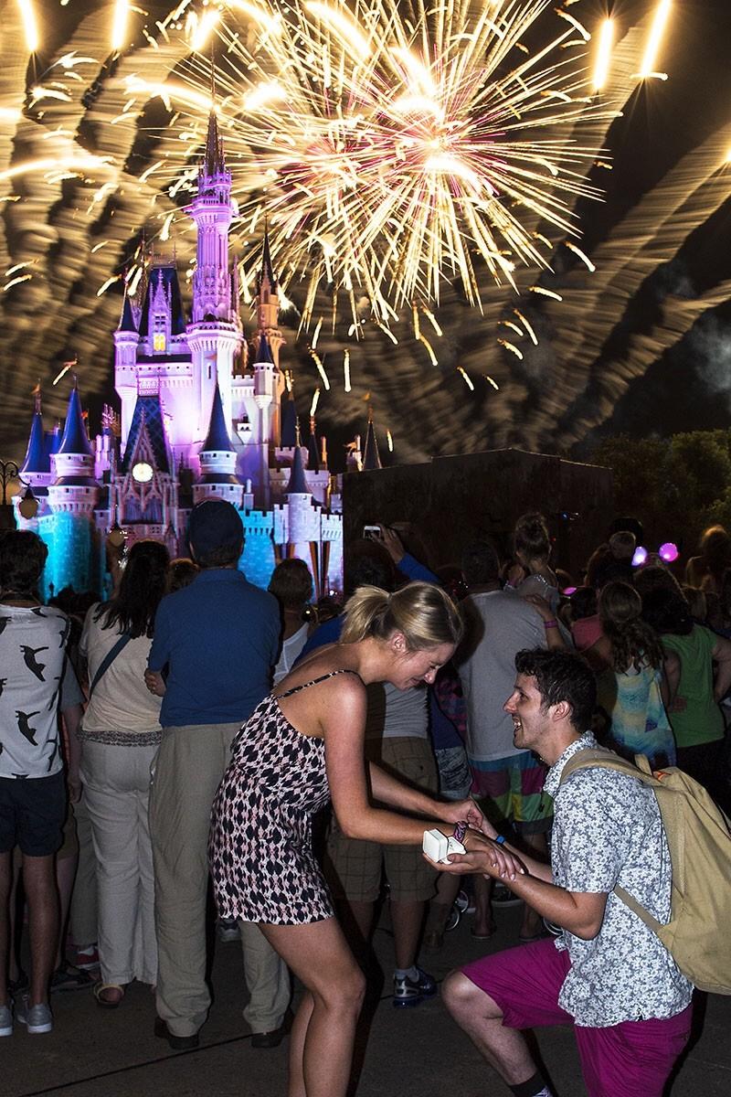 Cinderella's Castle Proposal
