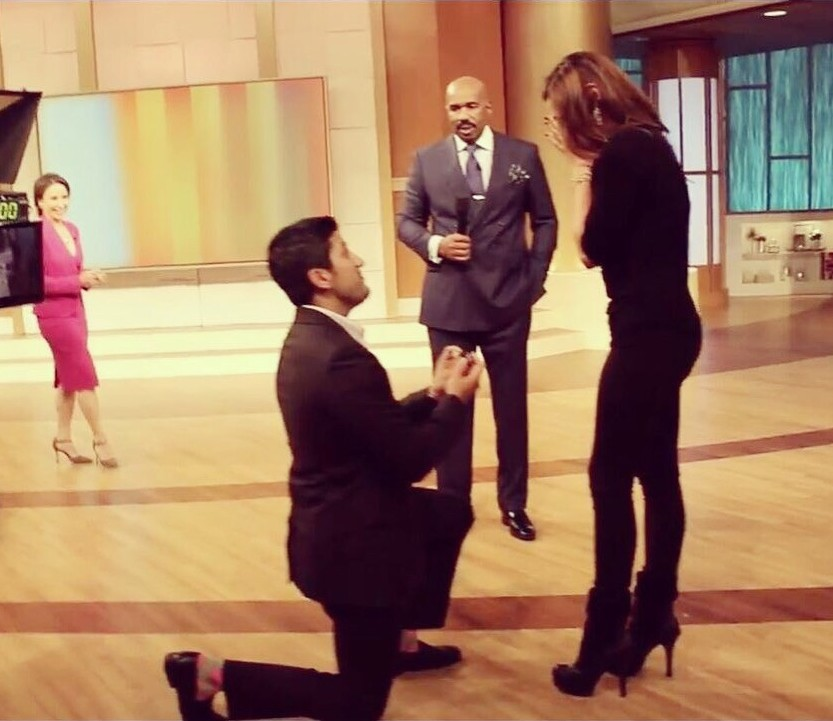 Image 1 of Chelsea and Aaron's Marriage Proposal on The Steve Harvey Show