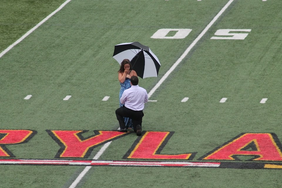 Image 2 of Shelby and Michael's Proposal at Capital One Field