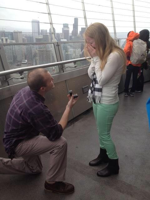 Image 3 of Anna and Daniel's Proposal at The Space Needle