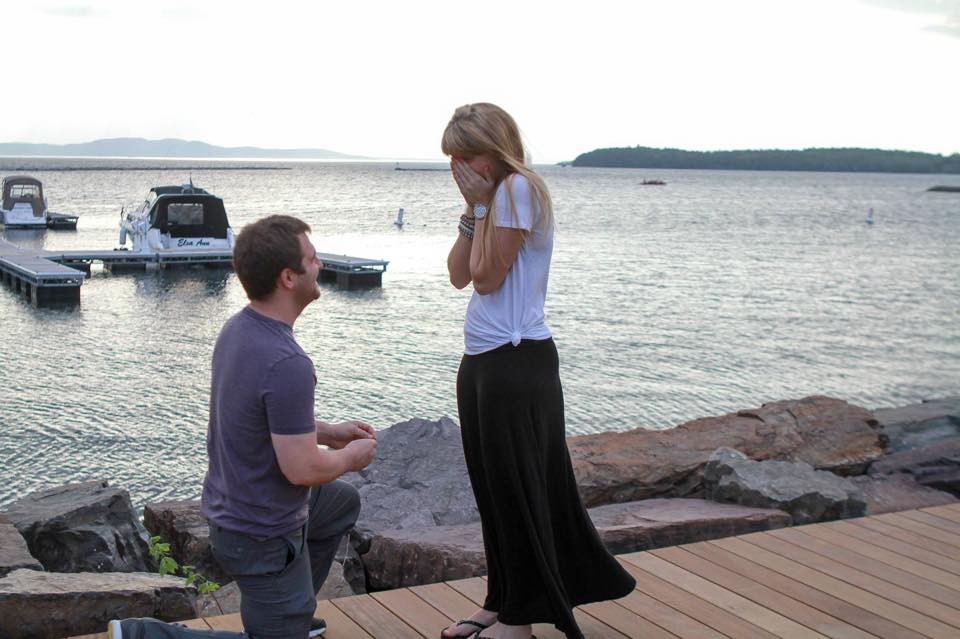 Image 2 of Morgan and Rob's Marriage Proposal on Lake Champlain