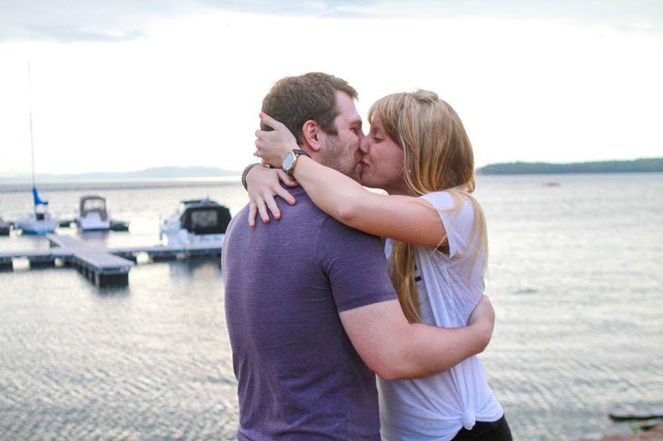 Image 4 of Morgan and Rob's Marriage Proposal on Lake Champlain