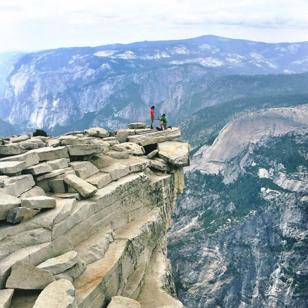 Marriage Proposal at the Top of Half Dome