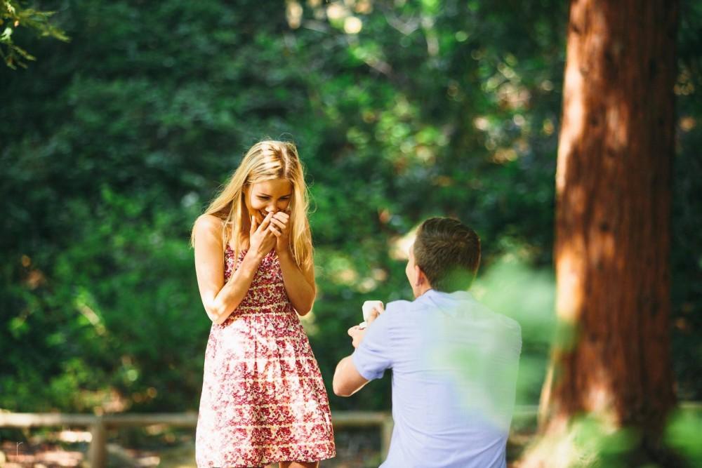 Image 1 of Joelle and Matthew's Marriage Proposal at the Santa Barbara Botanical Garden