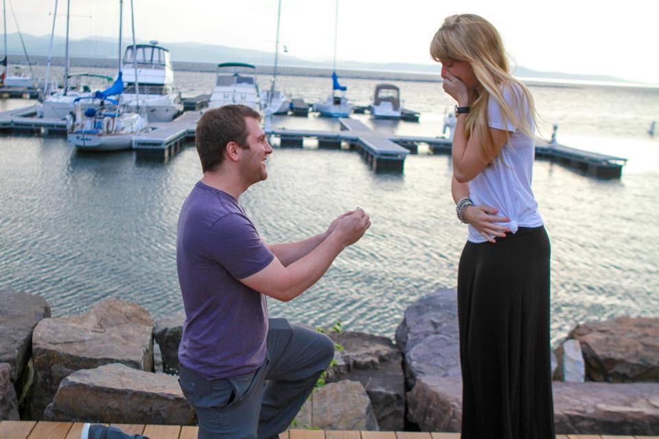 Image 3 of Morgan and Rob's Marriage Proposal on Lake Champlain