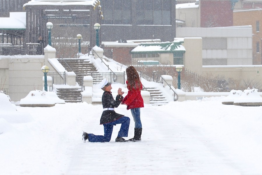 Image 4 of A Snowy Photoshoot Turns Into a Surprise Marriage Proposal