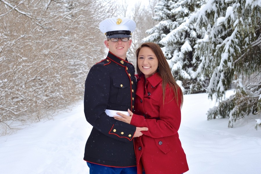 Image 1 of A Snowy Photoshoot Turns Into a Surprise Marriage Proposal