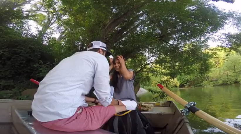 Image 2 of A Central Park Boat Surprise Marriage Proposal