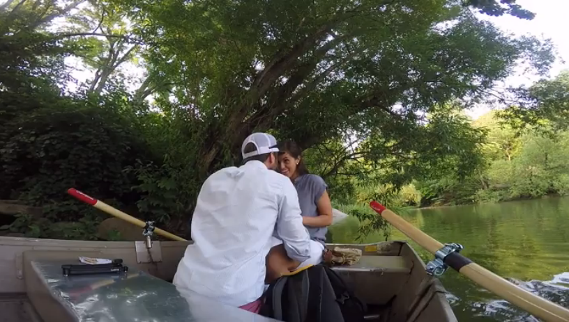 Image 3 of A Central Park Boat Surprise Marriage Proposal