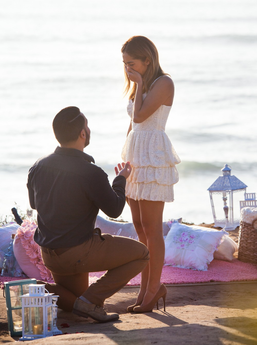 Image 5 of Diego and Jessica's Cliff Marriage Proposal at Sunset