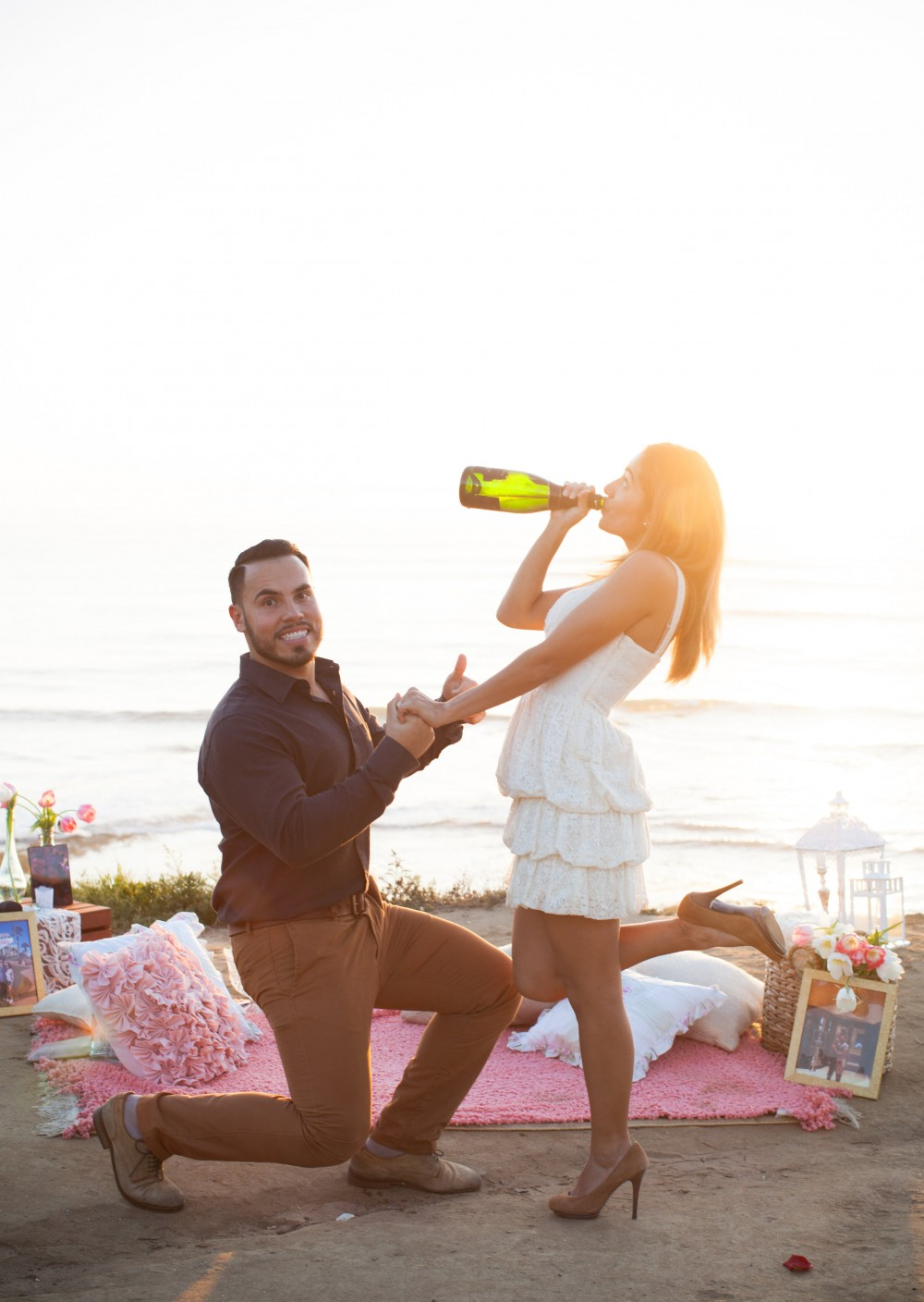 Image 9 of Diego and Jessica's Cliff Marriage Proposal at Sunset