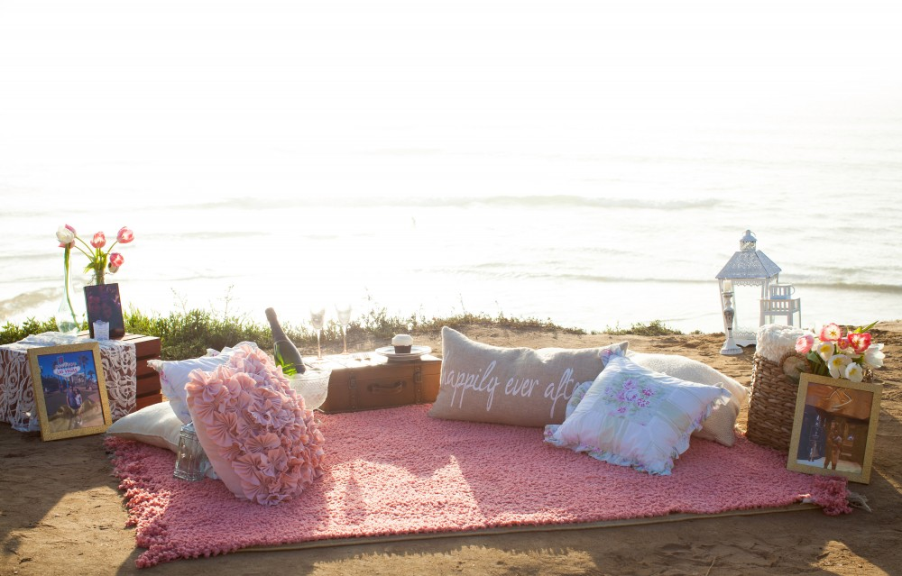 Image 2 of Diego and Jessica's Cliff Marriage Proposal at Sunset