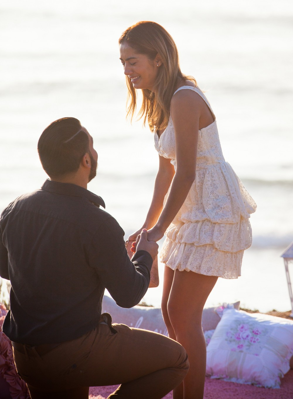 Image 6 of Diego and Jessica's Cliff Marriage Proposal at Sunset