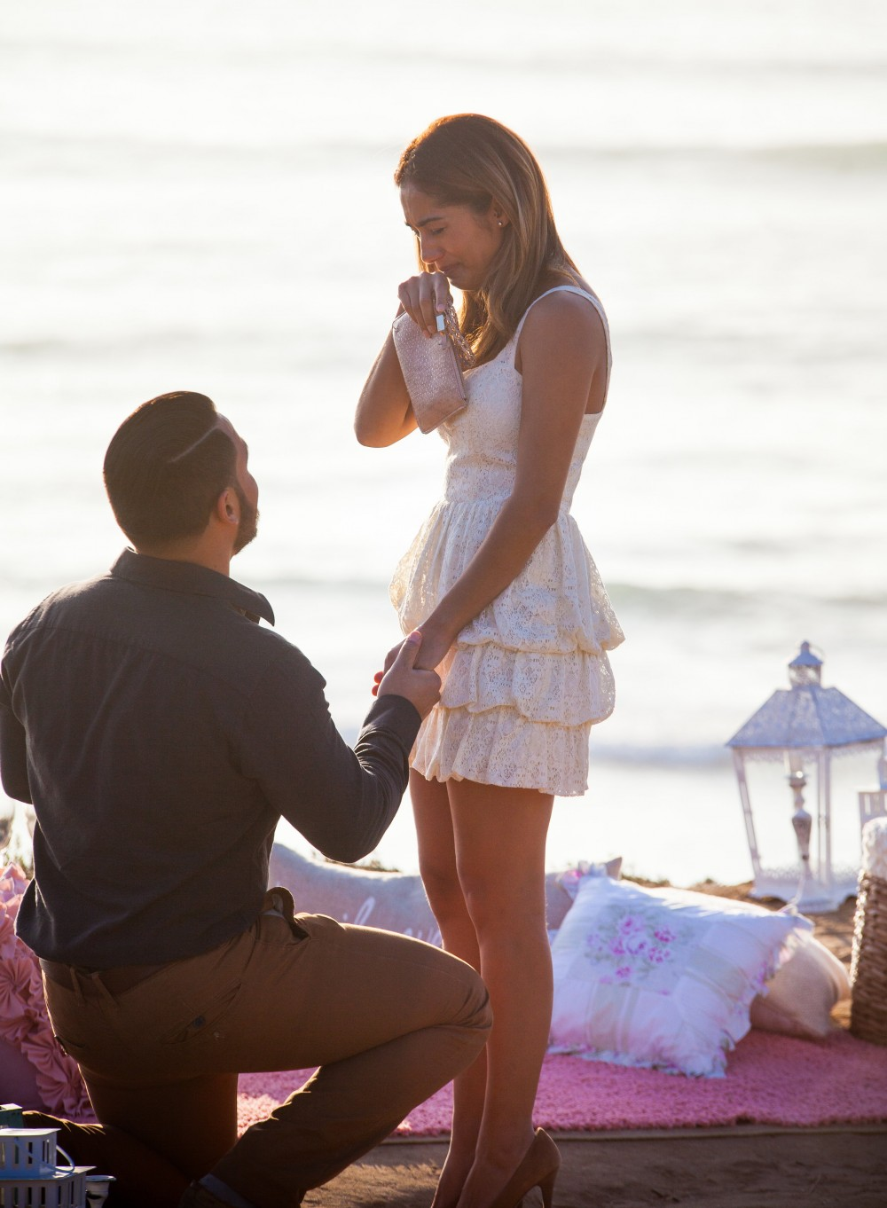 Image 7 of Diego and Jessica's Cliff Marriage Proposal at Sunset