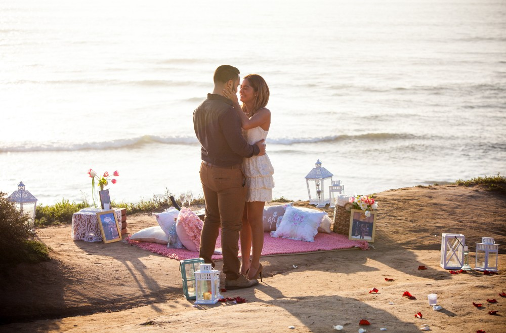 Image 4 of Diego and Jessica's Cliff Marriage Proposal at Sunset