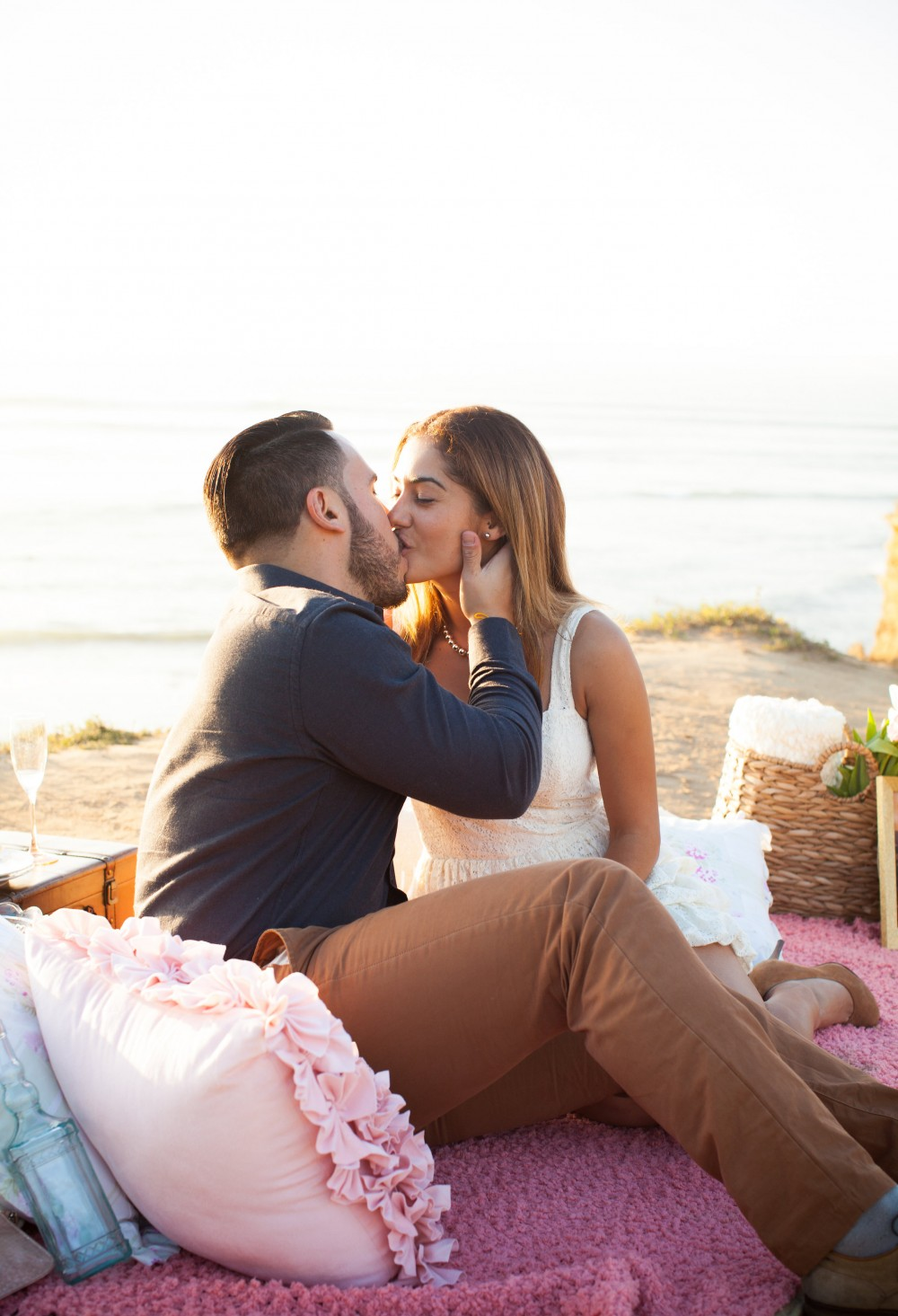 Image 3 of Diego and Jessica's Cliff Marriage Proposal at Sunset