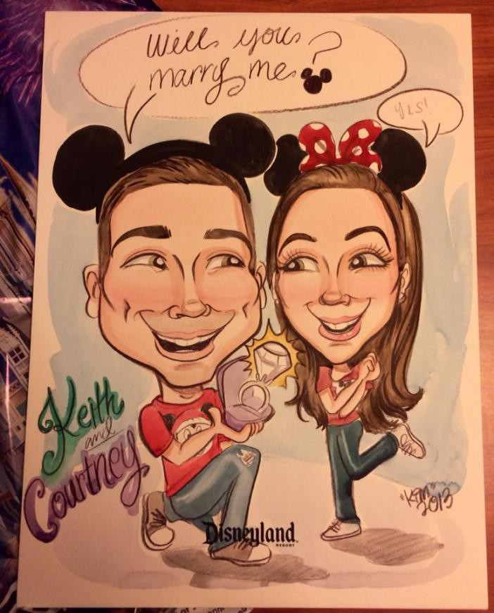 Courtney and Keith Caricature