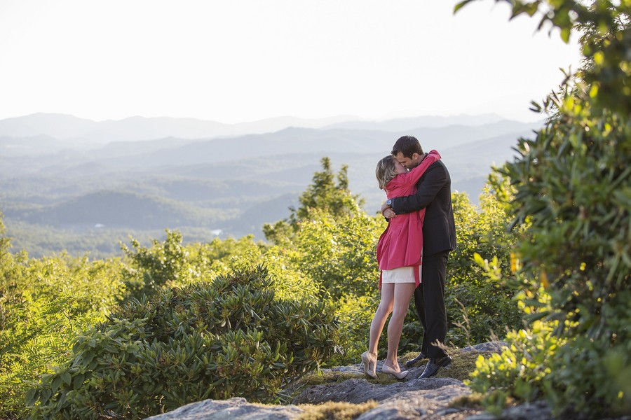 Image 1 of A Hiking Weekend Turned Into A Surprise Sunset Marriage Proposal