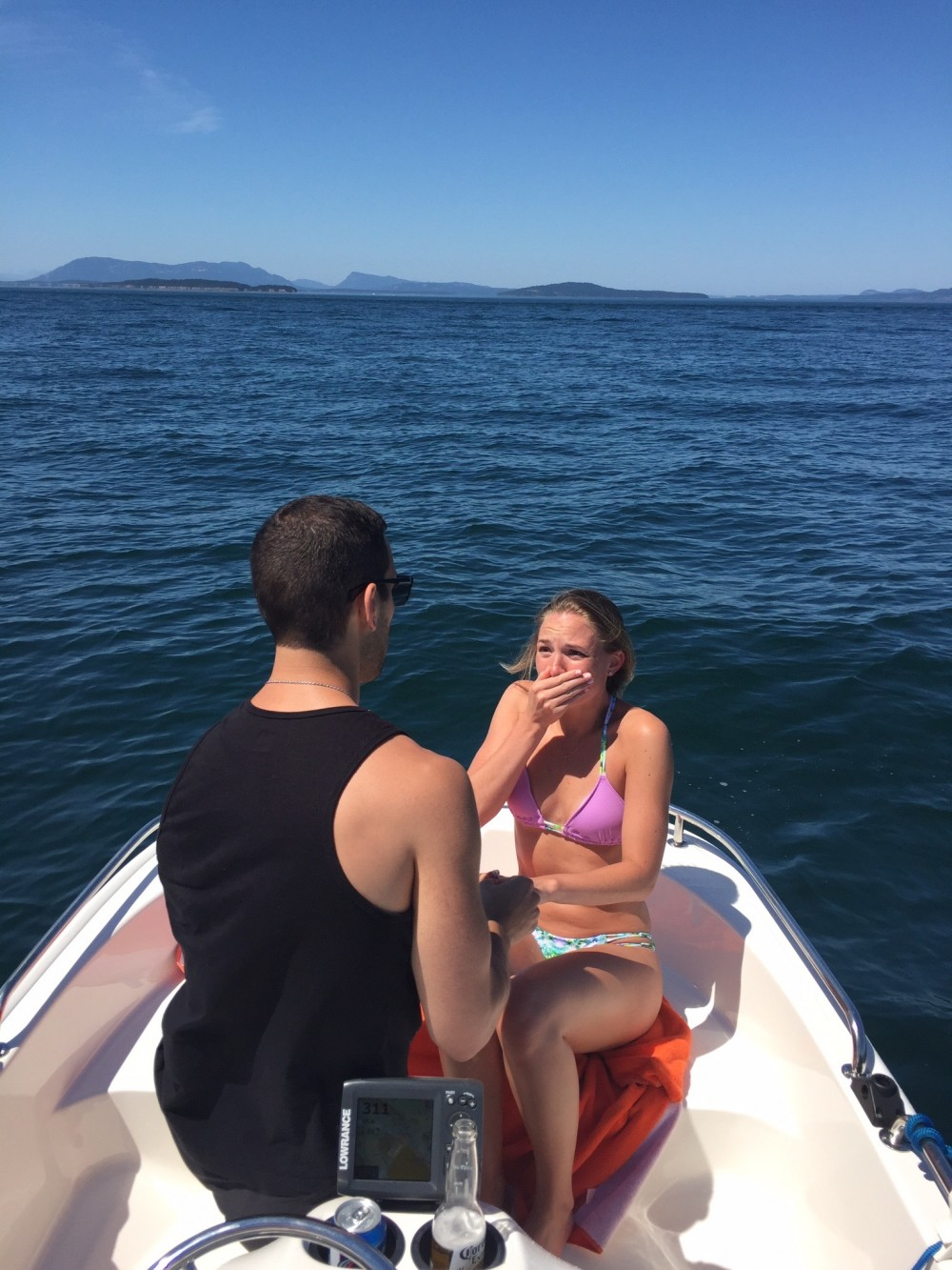 Boat Marriage Proposal