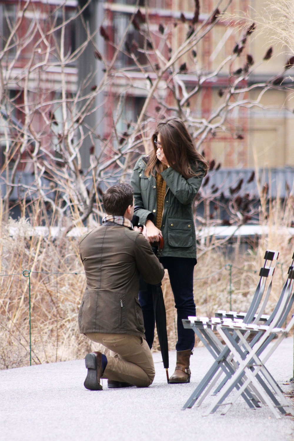 Image 2 of Emily and Paul | New York City Highline Proposal
