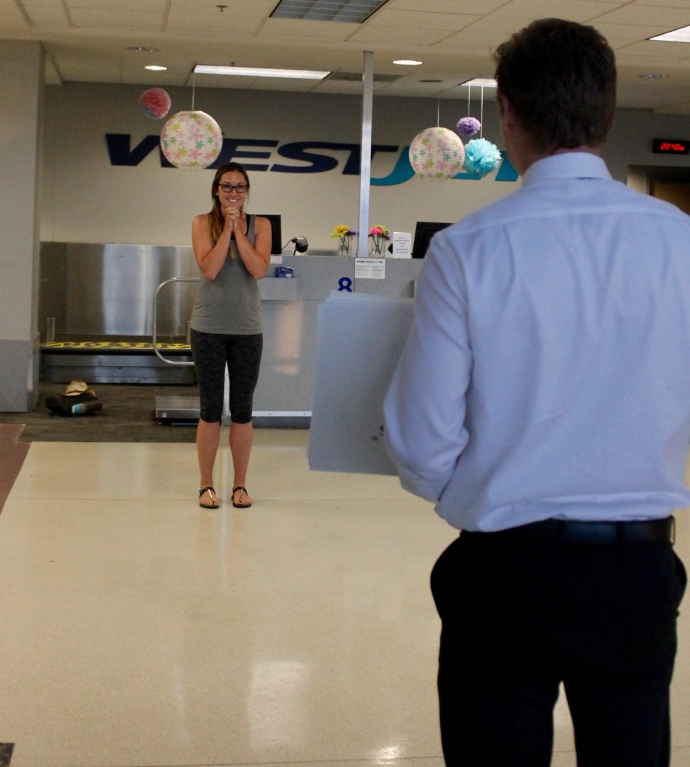 Image 2 of Lauren and Riley's Airport Proposal