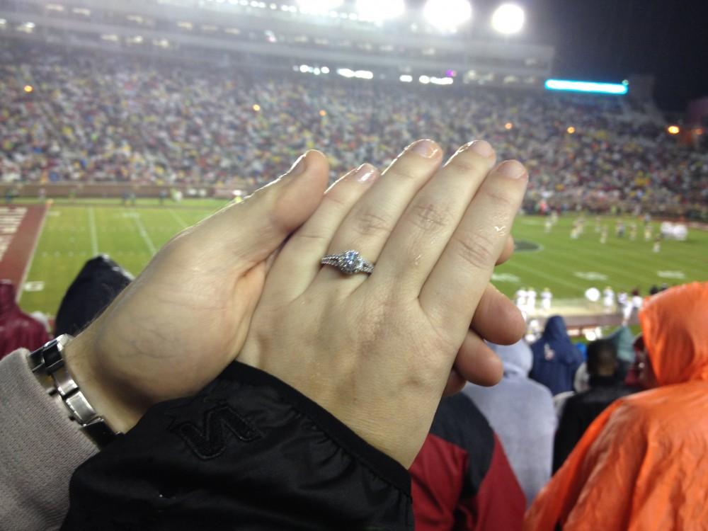 Marriage Proposal at FSU Football Stadium