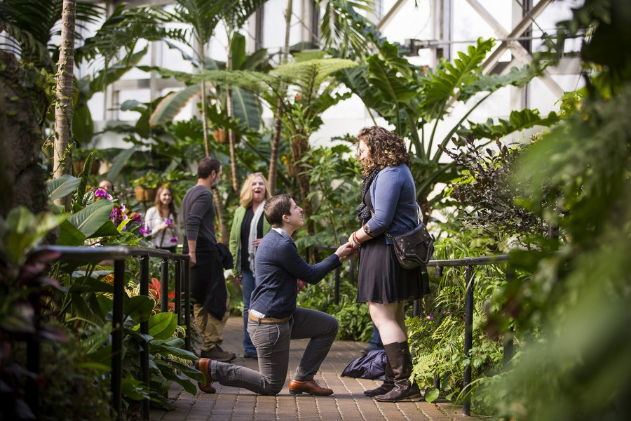 Lydia and Jessica's Marriage Proposal at the Franklin Park Conservatory (2)