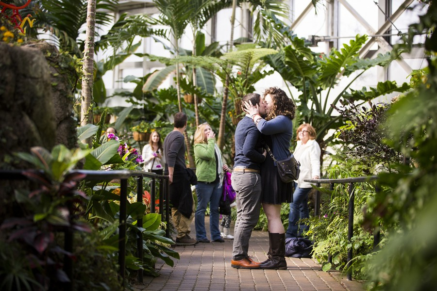 Image 4 of Lydia and Jessica's Marriage Proposal at the Franklin Park Conservatory