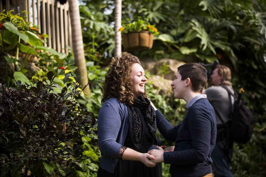 Image 1 of Lydia and Jessica's Marriage Proposal at the Franklin Park Conservatory