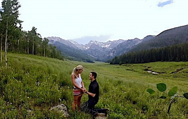 Image 2 of Melissa and Carson's Proposal in Beaver Creek