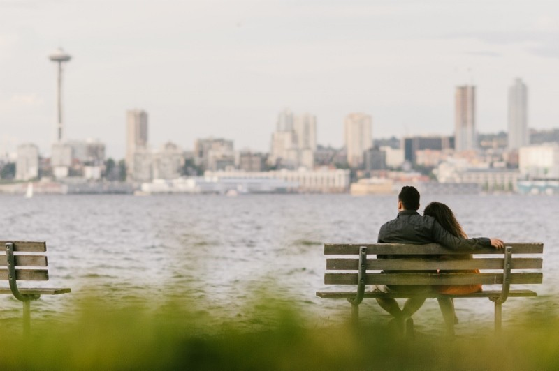 Image 1 of Nick and Jenny's Surprise Marriage Proposal in Seattle